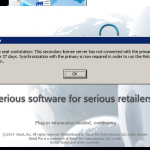 Unable to run Retail pro