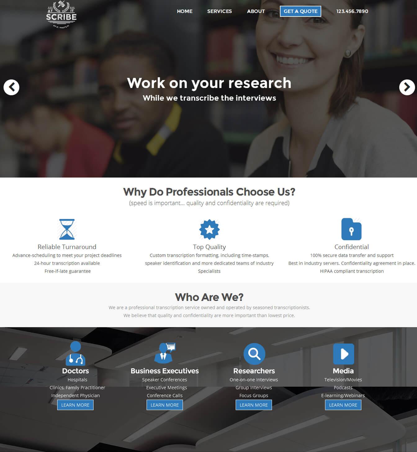 - atitscribe portfolio - Websites