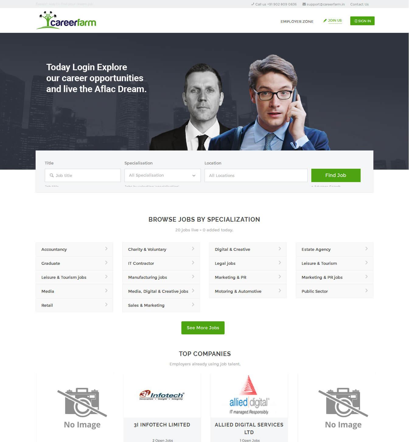 - careerfarm portfolio - Websites